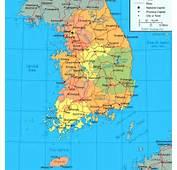 Korea Map Seoul Korean Maps Subway Cities Provinces Kyongsang Kyongi