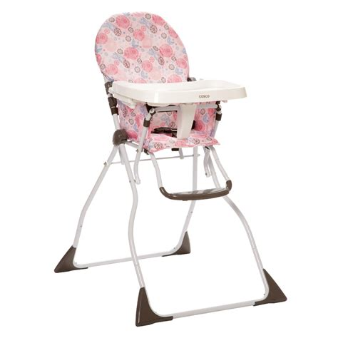 Cosco Folding High Chair by Evenflo High Chair Compact Zoo Friends Baby Feeding
