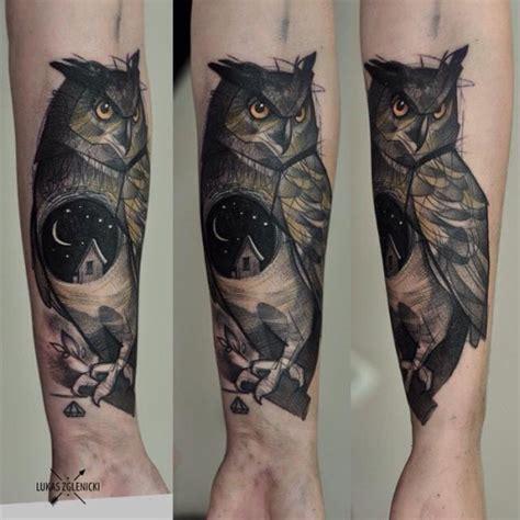 owl tattoo unterarm pics for gt owl tattoos on forearm