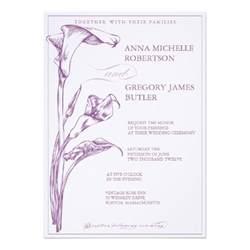 calla wedding invitation 5 quot x 7 quot invitation card zazzle