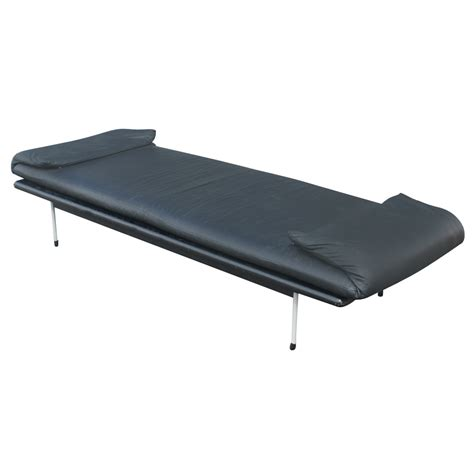 bench daybed vintage brayton black leather daybed bench ebay