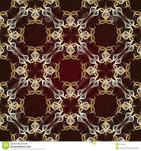 Kemeja Floral Brown Maroon seamless pattern on maroon background stock vector image 41872841