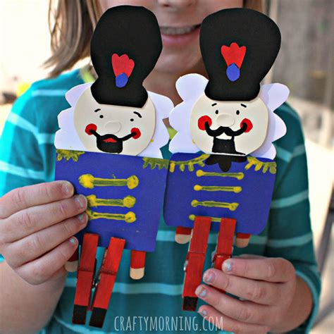 nutcracker crafts for clothespin nutcracker craft for to make crafty morning