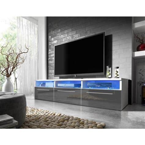 meuble tv led gris table de lit