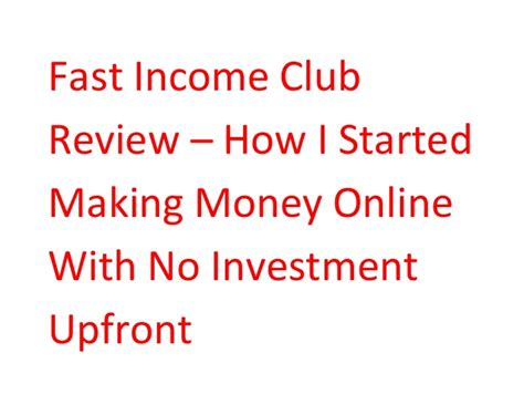 Make Money Online With No Investment - money online investment reviews 7 gbp
