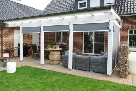 Wetterschutzrollo Selber Bauen by Terrassen 252 Berdachung Holz Vsg Glas Genial Terrasse Bauen
