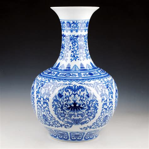 Antique Blue And White Porcelain Vases by Ceramics Antique Blue And White Porcelain Glaze Large