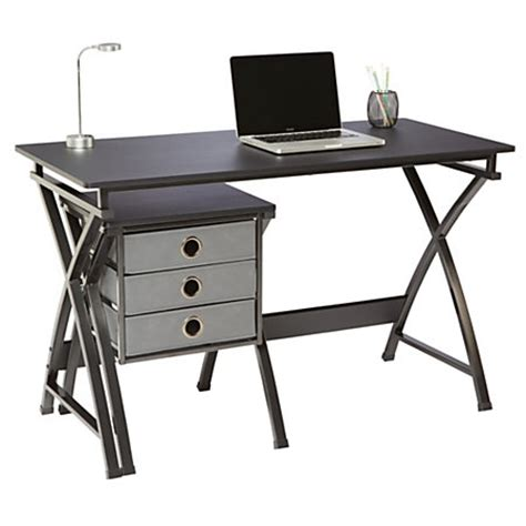 Brenton Studio X Cross Desk And File Set Black By Office Brenton Studio Desk
