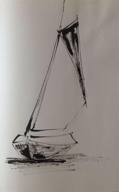 boat drawing ink boat ink on sketching paper 2013 corina blom sketching
