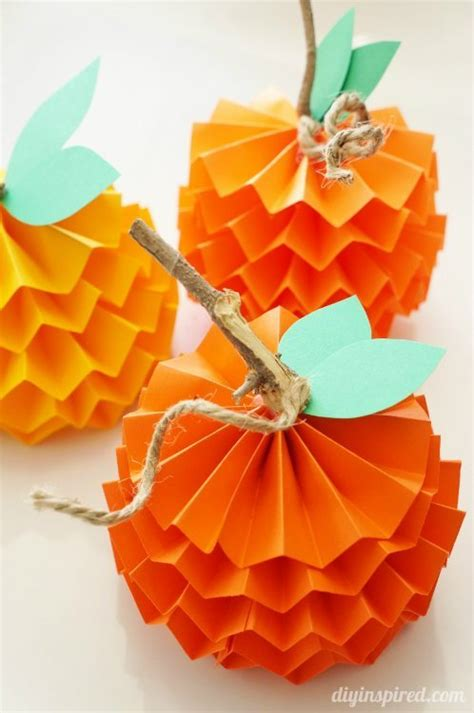 Paper Craft Decorations - 29 and easy thanksgiving craft ideas paper pumpkin