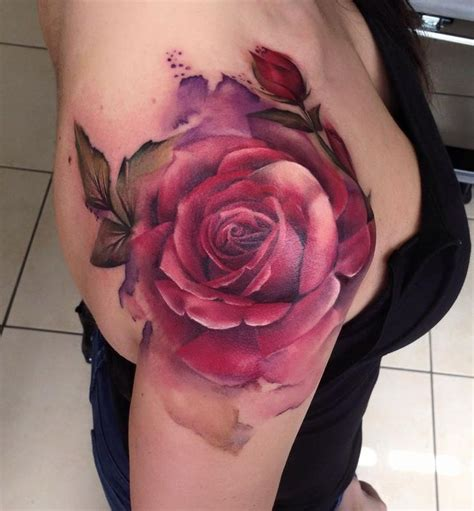 red rose tattoo on shoulder shoulder designs ideas and meaning tattoos