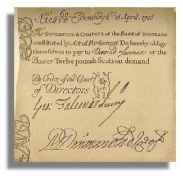 history of bank of scotland banknote history cscb