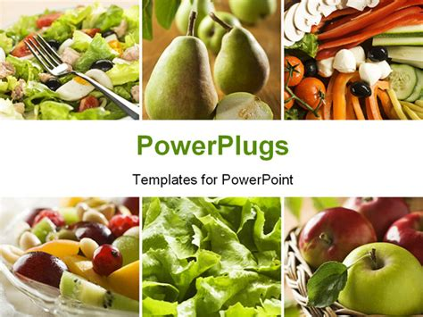 healthy vegetables and fruit food collage powerpoint