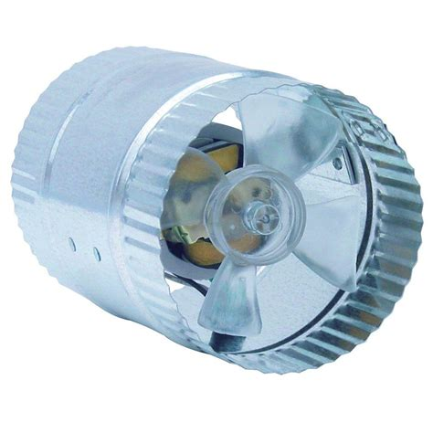 Inductor 4 In In Line Duct Fan Db204 The Home Depot