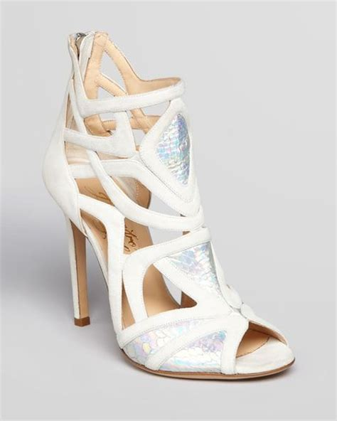 high heel cage sandals alejandro ingelmo cage sandals odyesey high heel in white