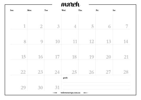 printable a4 planner 2015 march 2015 a4 monthly planner we love startups