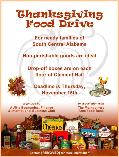 food drive flyer mcgough