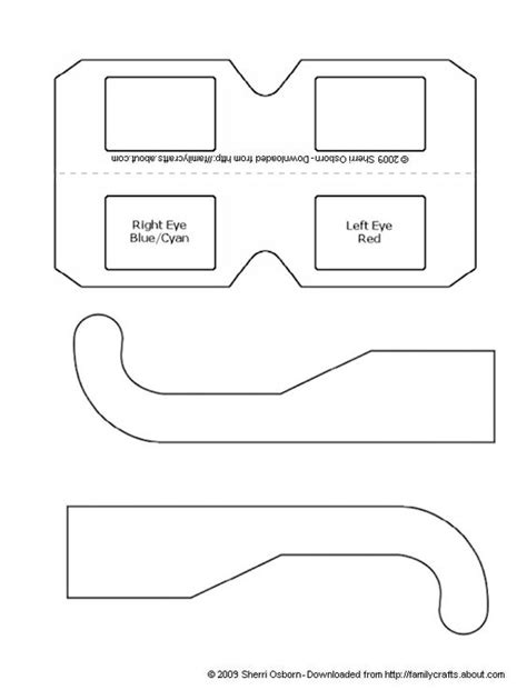 How To Make Paper Glasses - how to make your own 3d glasses focus on glasses and paper