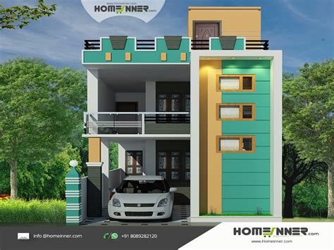 home design plan and elevation tamil nadu style 3d house elevation design