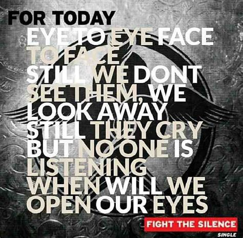 for today for today fight the silence one of my favorite and in my