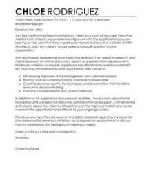 Personal Executive Assistant Cover Letter by Best Executive Assistant Cover Letter Exles Livecareer