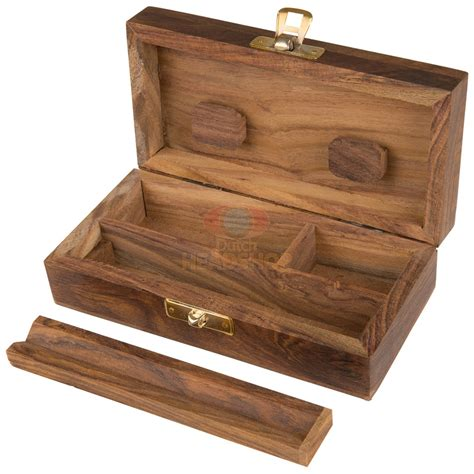 Roll Box joint roll box leaf wood luxe headshop