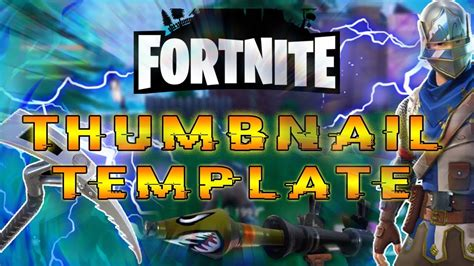 Fornite Battle Royale Thumbnail Template Pack Free Gfx Youtube Channel Thumbnail Template