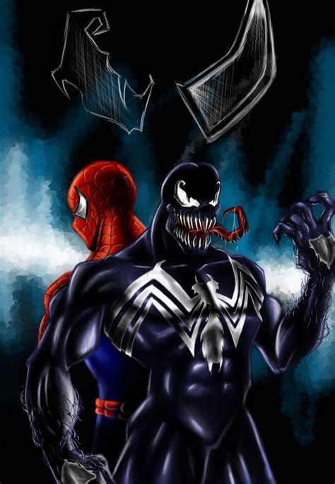 classic venom wallpaper venom and spidey by hunveesketch on deviantart