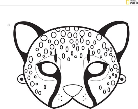 cheetah mask template ideas for a safari theme