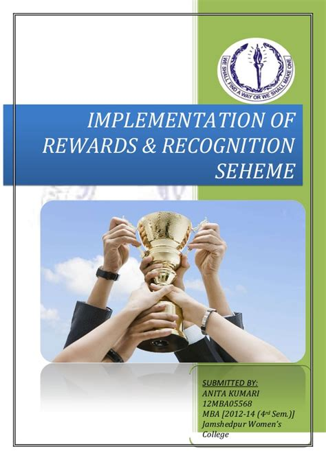 Of Mba Recognition by Rewards Recognition
