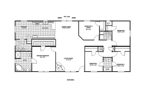 manufactured home floor plan clayton sedona limited 221675