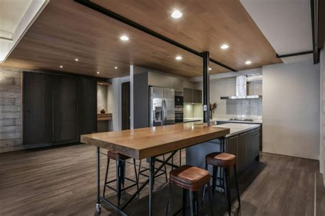 dry kitchen design taiwanese apartment by aya living uses a beautiful mix of