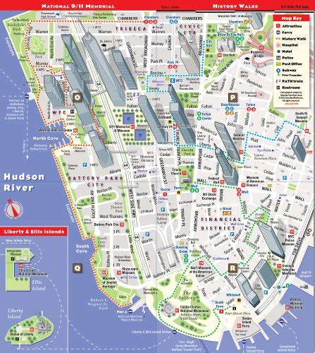 subway map of manhattan with streets streetsmart nyc map by vandam laminated city map