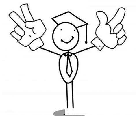 imagenes de optimismo para colorear dibujo de graduando optimista y feliz para pintar y