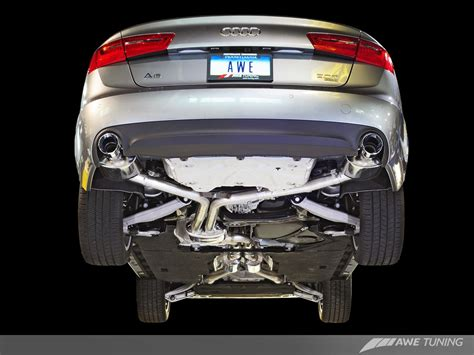 audi allroad exhaust system awe tuning launches a6 3 0t touring edition exhaust system