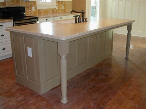 kitchen island leg legs on island kitchen