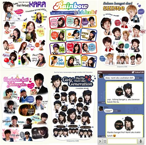 theme line kpop android kakaotalk releases kpop stickers to indonesian android
