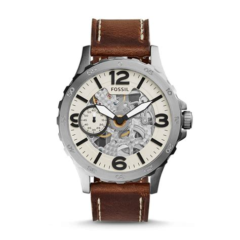 Jam Tangan Wanita Fossil Es4000 Brown Leather nate wound mechanical brown leather fossil
