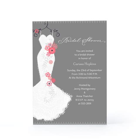Bridal Shower Gift Card Template by Bridal Shower Invite Bridal Shower Invite Wording Card