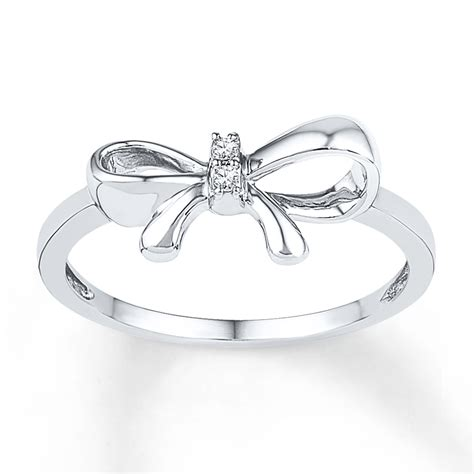bow ring accents sterling silver