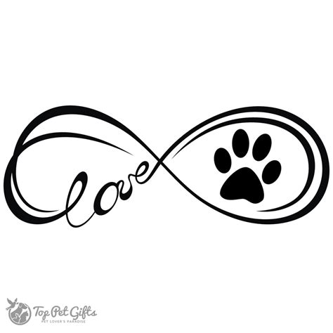 paw print infinity water color infinity paw decal top pet gifts