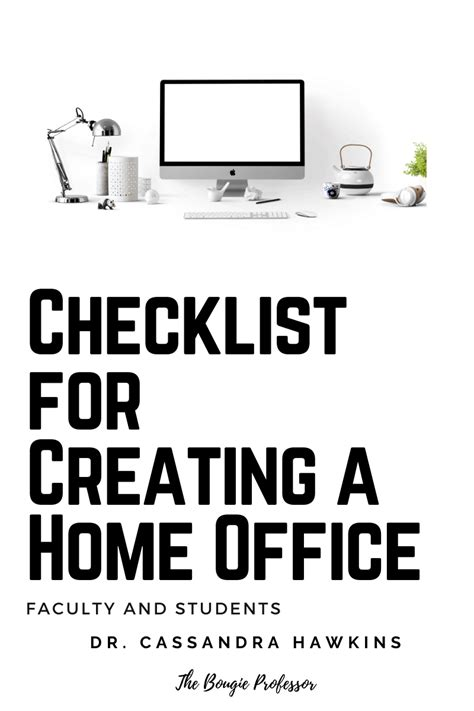 Checklist for Creating a Home Office – Faculty and