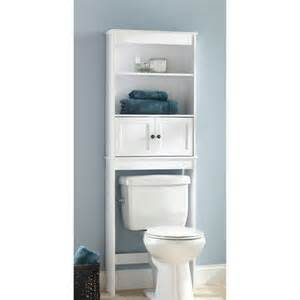 white bathroom shelving hawthorne place white wood spacesaver bathroom shelf 49 97