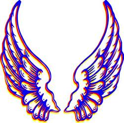 colored wings colored wings clip at clker vector clip