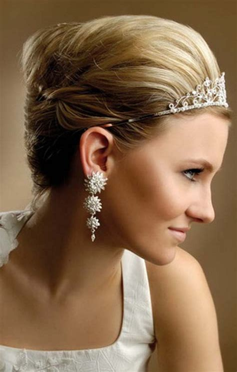 updo for tiarias cool wedding hairstyles updos for short hair