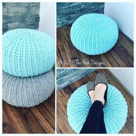 crochet pattern for pouf ottoman crochet floor pouf and ottoman free patterns the whoot