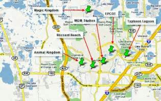 theme parks florida map orlando maps florida and leisure