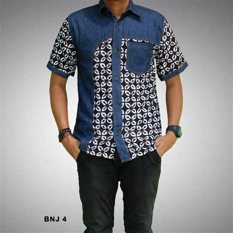 Kemeja Denim By Anataputri Batik kemeja batik pria kombinasi bnj 4