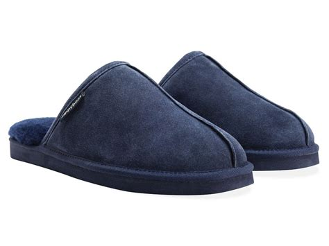 womens slip on slippers mens womens redfoot zippy suede leather slip on sheepskin