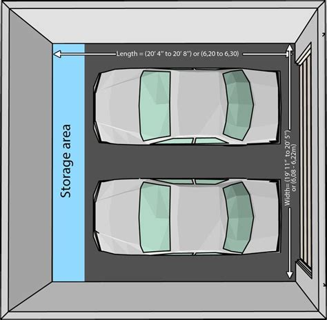 size of a 2 car garage 25 best ideas about standard garage door sizes on